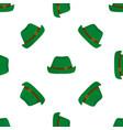 traditional german green vintage hat oktoberfest vector image vector image