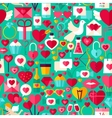 Valentine Day Green Seamless Pattern vector image