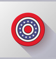 4th of july independence day badge vector image