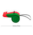 A Whistle of The Sultanate of Oman vector image vector image