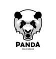 angry roaring panda head mascot character vector image vector image