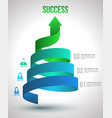 Arrow twist up to success number options vector image