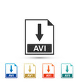 avi file document icon download avi button icon vector image