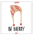 Be Merry - Holiday unique handwritten lettering vector image vector image