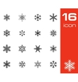 black snowflake icons set vector image vector image