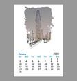 calendar sheet new york january month 2021 year