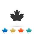 canadian maple leaf icon canada symbol maple leaf vector image vector image