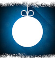 Christmas paper ball on blue background vector image