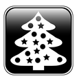 Christmas Tree button vector image