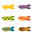 Colorful Airship Set vector image vector image