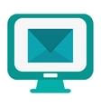 computer monitor envelope vector image vector image