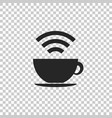 cup of coffee shop with free wi-fi zone icon vector image vector image