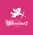 Cupid silhouette bow arrow heart valentines day