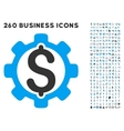 Development Price Icon with Flat Set vector image vector image