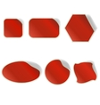 Different Red Stickers Set vector image vector image