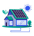 eco house cartoon flat vector image vector image