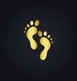 Foot step gold logo