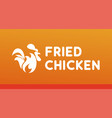 fried chicken logo with burning rooster with fire vector image vector image
