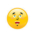 funny emoji isolated cheerful yellow circle vector image
