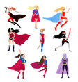 girls is super heroes vector image