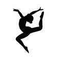 Gymnastics girl silhouette vector image vector image