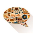 Hipster Social Concept vector image vector image