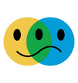 icon emoticon concept emotions joy and sadness vector image