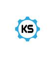 initial letter logo ks template design vector image