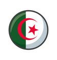 isolated algeria flag icon block design
