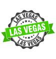 las vegas round ribbon seal vector image vector image