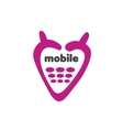 logo phone vector image