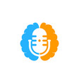 mind podcast logo icon design vector image