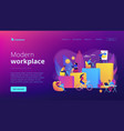 modern workplace concept landing page vector image