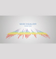 music wave logo color pulse audio player vector image vector image
