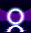 neon show light podium vector image vector image