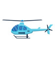 passenger helicopter icon isolated on white vector image