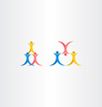 people acrobatics icon symbol vector image vector image
