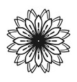 petal flower icon simple style vector image