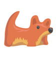 red toy dog funny pet isolated on white vector image vector image