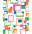 Retro squares pattern vector image vector image