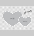 romantic photo frame form hearts of st valentines vector image vector image