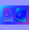 science day abstract gradient background set vector image vector image