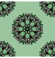 Seamless green mandala flower Ornamental vector image vector image
