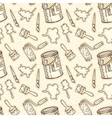Seamless Pattern Paintbrushes Roller Brushes vector image vector image