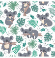 seamless pattern with koalas cute australian vector image vector image