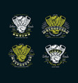 set of biker club emblem for t-shirt vector image vector image