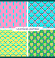 set of four seamless geometrical patterns 14 vector image vector image