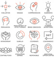 Set of icons related to business management - 10 vector image vector image