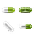 set of pills in capsule shapes and forms vector image vector image