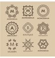 Set of simple and elegant monogram designs vector image